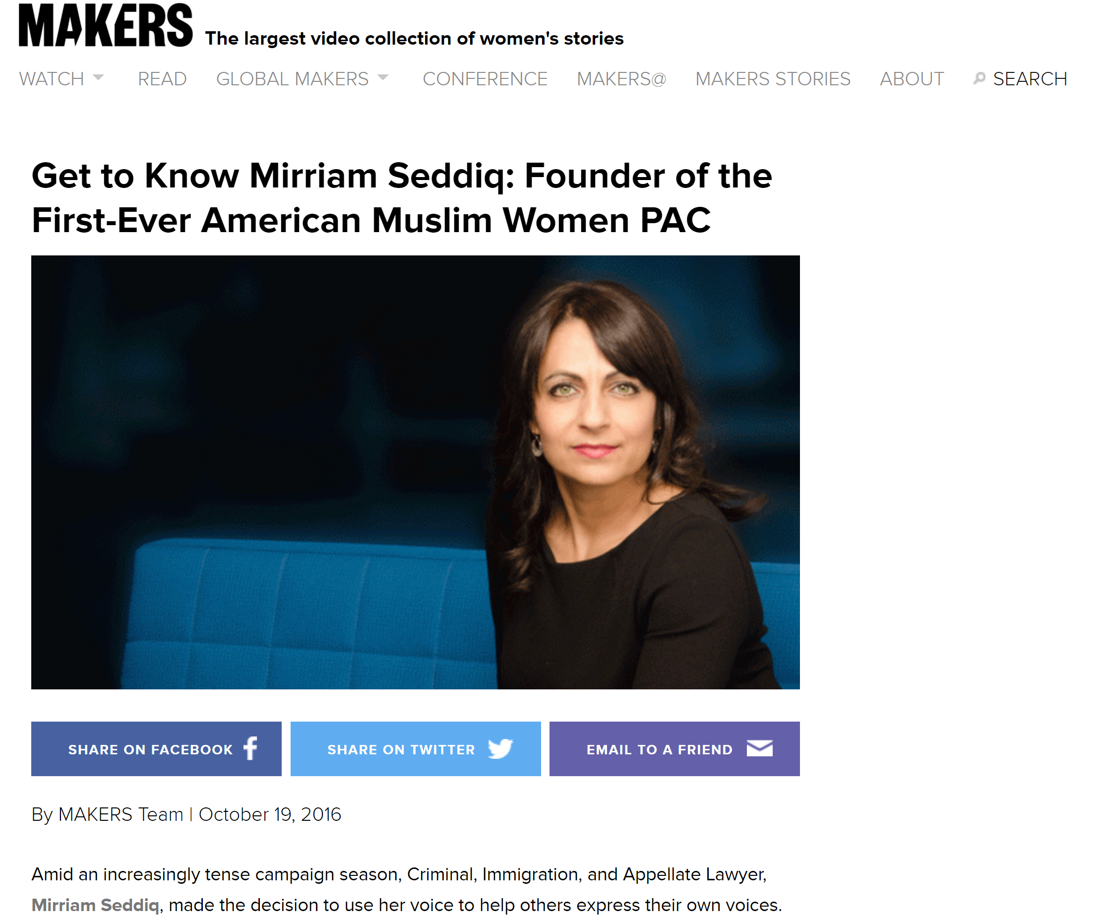 American Muslim Women PAC in Makers